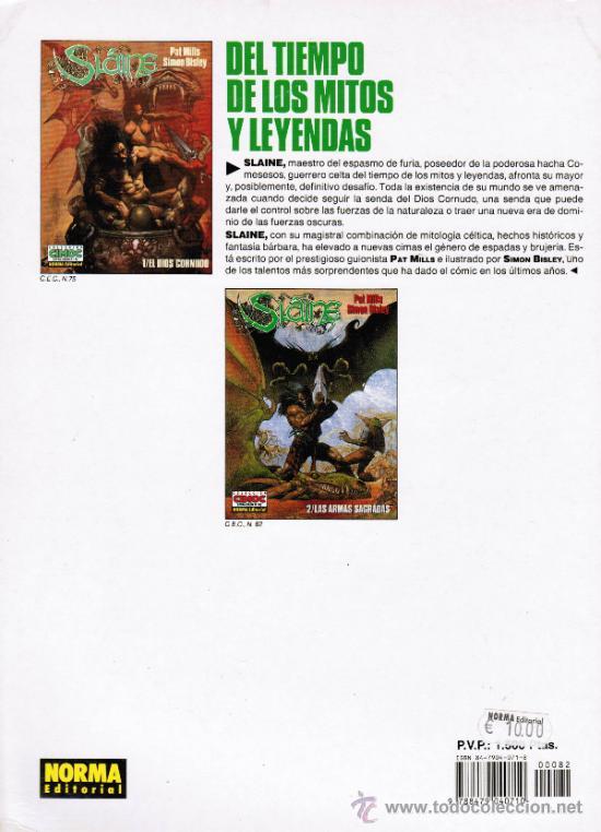 Cómics: SLAINE. 2/LAS ARMAS SAGRADAS - COLECCION CIMOC EXTRA COLOR Nº 82 - NORMA 1996. 2ª ED - Foto 2 - 269310423