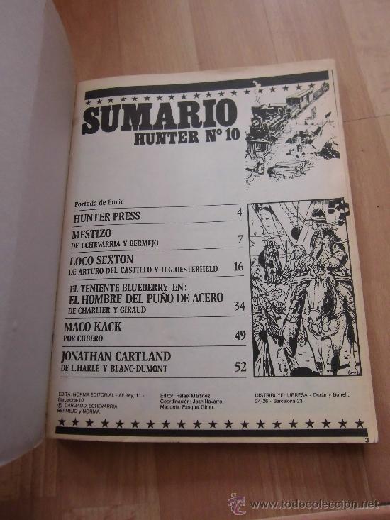 Cómics: LOS MEJORES COMIC DEL OESTE HUNTER TOMO CON LOS NUMEROS 10-11-12 - Foto 4 - 87078143