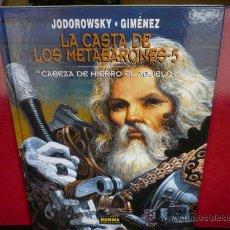 Cómics: METABARONES -5. CABEZA DE HIERRO EL ABUELO. JODOROWSKY-GIMÉNEZ. NORMA EDITORIAL. TAPA DURA.. Lote 37596663