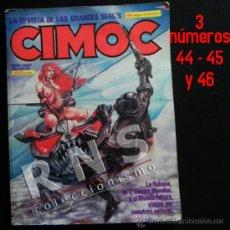 Cómics: CIMOC RETAPADO 12 CON NÚMEROS 44 45 46 CÓMIC PARA ADULTOS CIENCIA FICCIÓN AVENTURA COMICS NORMA. Lote 37663621