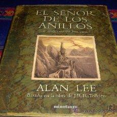 Cómics: EL SEÑOR DE LOS ANILLOS CUADERNO DE BOCETOS DE ALAN LEE. MINOTAURO 1ª ED. 2010. TOLKIEN. CON REGALO!. Lote 38428919
