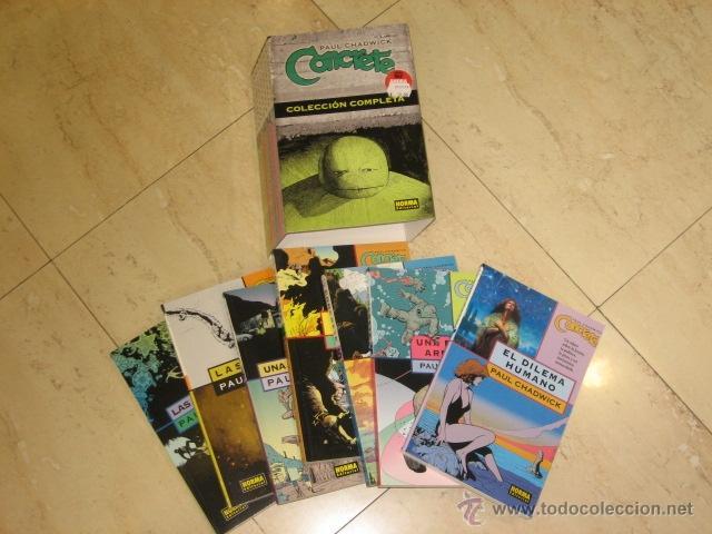 ***PRECIO NETO*** CONCRETE COMPLETA 7 TOMOS + ESTUCHE NORMA EDITORIAL OFERTA (ANTES 98,00 €) (Tebeos y Comics - Norma - Otros)