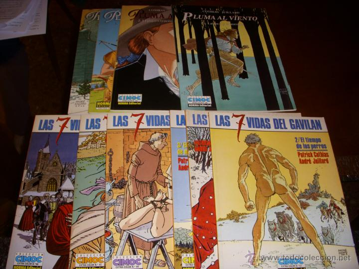 LAS 7 VIDAS DEL GAVILÁN, COLECCIÓN COMPLETA(ICLUIDOS LOS 4 DE PLUMA AL VIENTO), EDITORIAL NORMA (Tebeos y Comics - Norma - Comic Europeo)