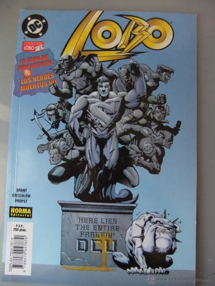 COLECCION LOBO Nº 17 LA CENA DE DON ALFONZO & LOS HEROES MUERTOS NO (Tebeos y Comics - Norma - Comic USA)