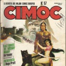 Cómics: CIMOC - LA REVISTA DEL MEJOR COMIC EUROPEO - N. 57. Lote 41655791