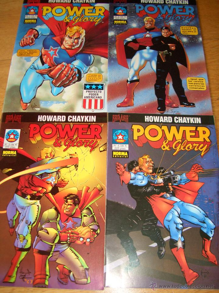 POWER AND GLORY #1-4 (NORMA COMICS) (Tebeos y Comics - Norma - Comic USA)