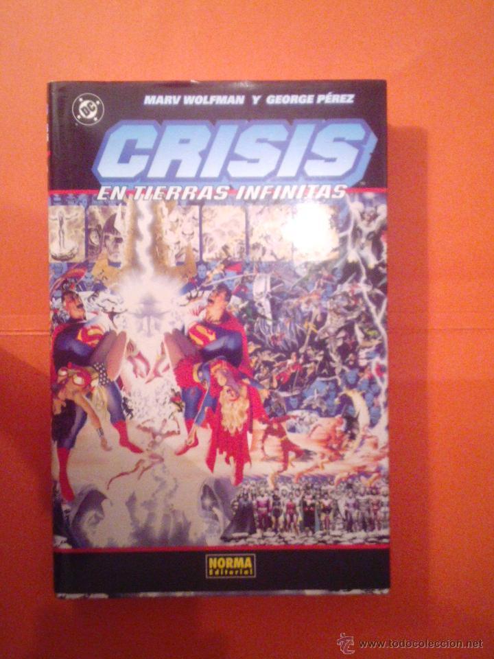CRISIS EN TIERRAS INFINITAS - TOMO PRESTIGIO - MARW WOLFMAN Y G. PEREZ - NORMA -MUY B. ESTADO CJ 4 (Tebeos y Comics - Norma - Comic USA)