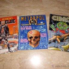 Cómics: LOTE COMICS CIMOC (3 EN 1) METROPOL Nº 3 Y REBELDE DE PEPE MORENO. Lote 42792000