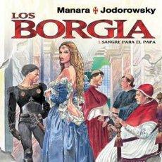 Cómics: CÓMICS. LOS BORGIA 01. SANGRE PARA EL PAPA - MILO MANARA/ALEJANDRO JODOROWSKY (CARTONÉ). Lote 135671309