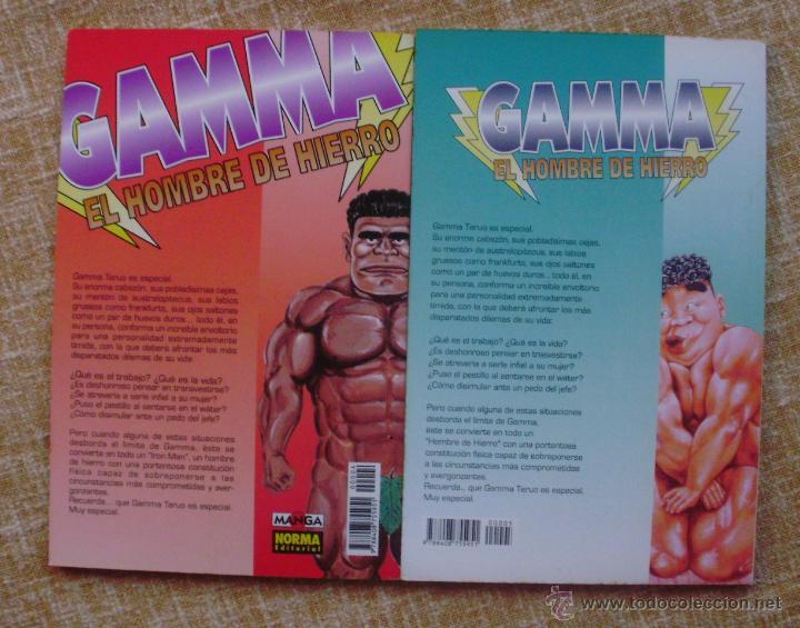 Cómics: Gamma: El Hombre de Hierro Comic, números 4 y 5, Norma, Manga, Yasuhito Yamamoto, año 1995 - Foto 6 - 43684079