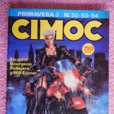 Cómics: CIMOC PRIMAVERA 52 53 54 EDITORIAL NORMA 1985 TOMO CON 3 NUMEROS. Lote 48830535