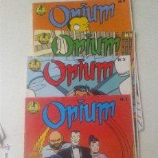 Cómics: LOTE 4 NUMEROS COMICS OPIUM AÑO 1989. Lote 48889246