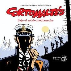 Cómics: CÓMICS. CORTO MALTÉS. BAJO EL SOL DE MEDIANOCHE - JUAN DÍAZ CANALES/RUBÉN PELLEJERO (CARTONÉ). Lote 253582730