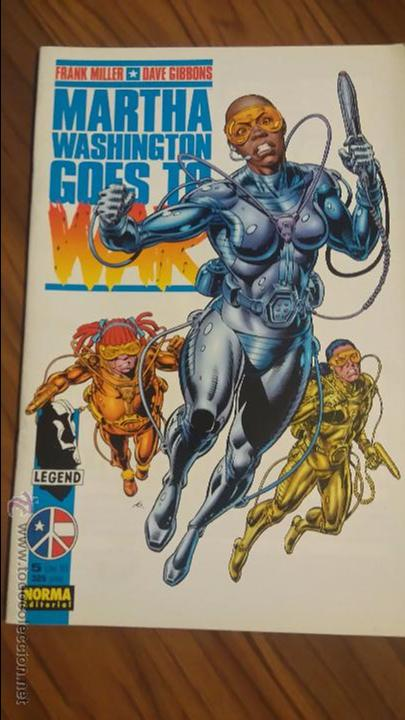 MARTHA WASHINGTON GOES TO WAR 5. ULTIMO NUMERO. FRANK MILLER, DAVE GIBBONS. (Tebeos y Comics - Norma - Comic USA)