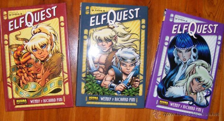 LOS ARCHIVOS DE ELFQUEST, 3 VOLÚMENES (COMPLETO), NORMA (Tebeos y Comics - Norma - Comic USA)