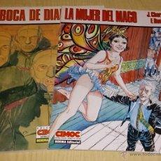 Cómics: LOTE LA MUJER DEL MAGO Y BOCA DE DIABLO-J.CHARYN / F. BOUCQ. CIMOC EXTRA COLOR.. Lote 54300512