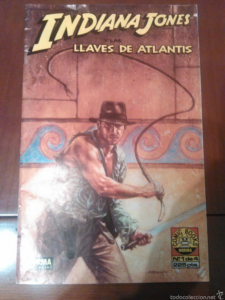 CÓMIC INDIANA JONES Y LAS LLAVES DE ATLANTIS N'1 AÑO 1991 MEDIDAS 26×17 (Tebeos y Comics - Norma - Otros)