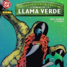 Cómics: LEYENDAS DE LA LLAMA VERDE.EDITORIAL NORMA.. Lote 54496152