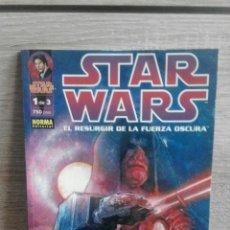 Cómics: STAR WARS EL RESURGIR DE LA FUERZA OSCURA 1 DE 3. Lote 54743537