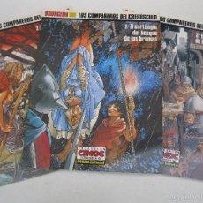 Cómics: LOS COMPAÑEROS DEL CREPÚSCULO - BOURGEON - 3 NÚMEROS - OBRA COMPLETA - CIMOC - NORMA - AÑOS 90.. Lote 56077820