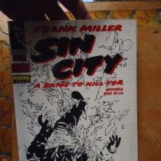 Cómics: FRANK MILLER , SIN CITY - MORIRIA POR ELLA NUMERO 2 DE 6 . Lote 56854811