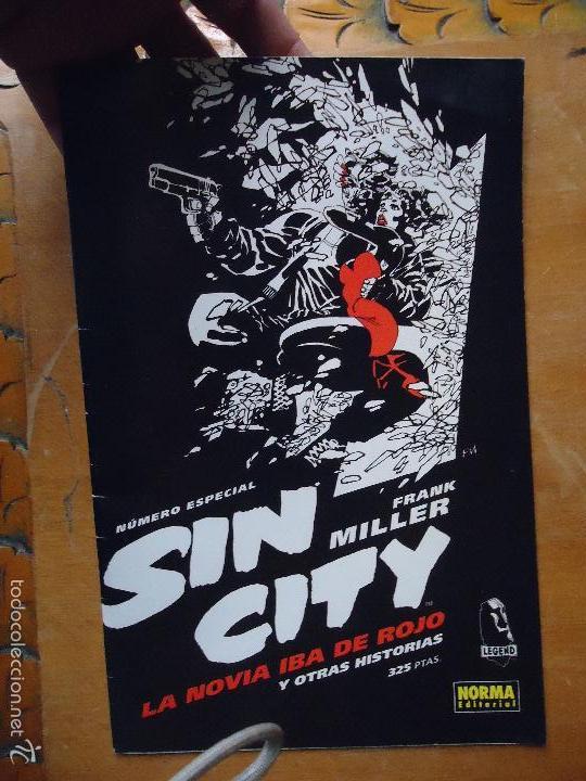 FRANK MILLER , SIN CITY - NUMERO ESPECIAL LA NOVIA IBA DE ROJO Y OTRAS HISTORIAS NORMA (Tebeos y Comics - Norma - Comic USA)