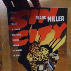 Cómics: FRANK MILLER , SIN CITY - LA GRAN MASACRE NUMERO 1 DE 5 , - NORMA EDITORIAL . Lote 56855075