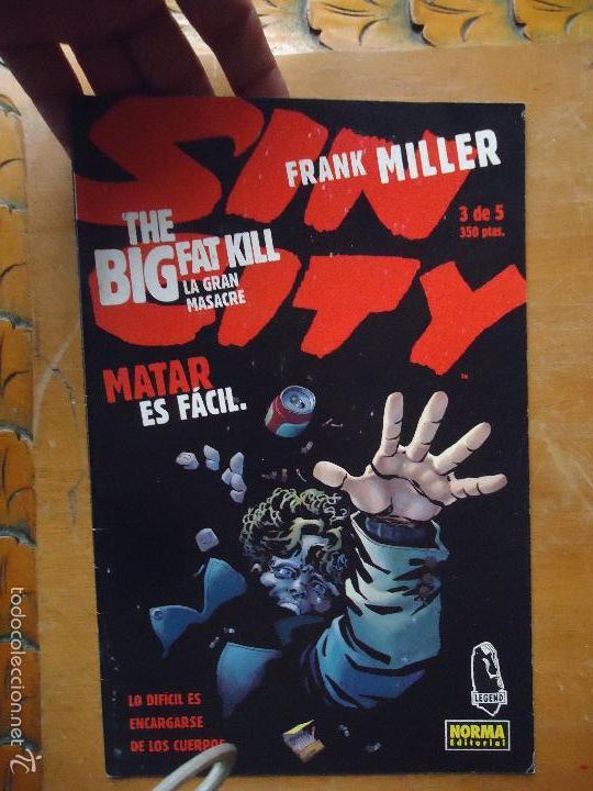 FRANK MILLER , SIN CITY - LA GRAN MASACRE NUMERO 3 DE 5 , - NORMA EDITORIAL (Tebeos y Comics - Norma - Comic USA)