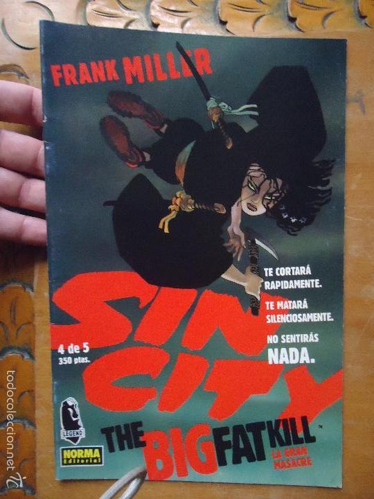 FRANK MILLER , SIN CITY - LA GRAN MASACRE NUMERO 4 DE 5 , - NORMA EDITORIAL (Tebeos y Comics - Norma - Comic USA)