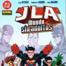 Cómics: JLA.MUNDO SIN ADULTOS.NORMA EDITORIAL.. Lote 56961785
