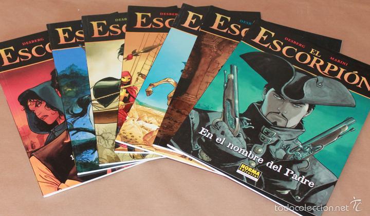 4 EL ESCORPION NºS 1 2 3 4 - MARINI - CIMOC EXTRA COLOR 181 190 200 208 NORMA, RUSTICA - Y SUELTOS (Tebeos y Comics - Norma - Comic Europeo)