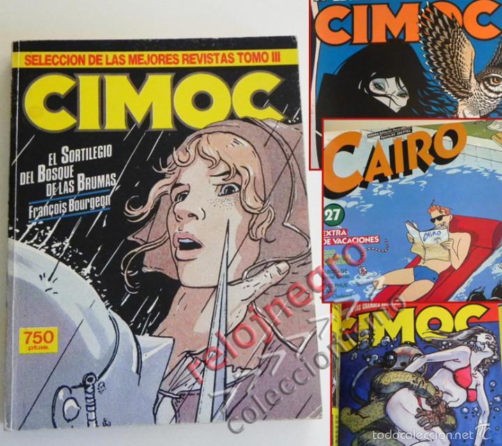 LOTE CIMOC 42 49 51 Y CAIRO 27 - NORMA RETAPADO CÓMIC PARA ADULTOS - BOURGEON GARCÉS MOEBIUS COMICS (Tebeos y Comics - Norma - Cimoc)