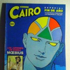 """Cómics: """"CAIRO"""" Nº 60. ESPECIAL FIN DE AÑO. MOEBIUS. MANUEL MONTANO. LUNA – PRADO. ETC. NORMA EDITORIAL.. Lote 58290889"""
