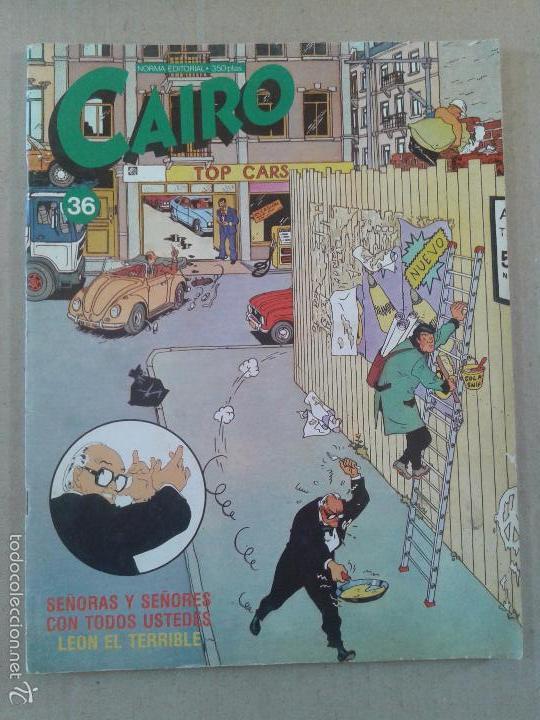 REVISTA CAIRO Nº36, DE NORMA EDITORIAL. PORTADA DE LEÓN EL TERRIBLE. (Tebeos y Comics - Norma - Cairo)