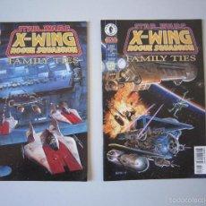 Cómics: STAR WARS: X - WING ROGUE SQUADRON: FAMILY TIES # 1 AL # 2. DARK HORSE (U.S.A). Lote 58635056