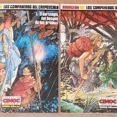 Cómics: LOS COMPAÑEROS DEL CREPÚSCULO 1 2 – BOURGEON – CIMOC EXTRA COLOR 60 62 AÑOS 1989 1990. Lote 60511925