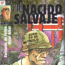Cómics: FERNANDO DE FELIPE. NACIDO SALVAJE. GLENAT OBRA COMPLETA: 3 NUMEROS. Lote 63674891