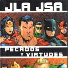 Cómics: GEOFF JOHNS. CARLOS PACHECO. JLA JSA. PECADOS Y VIRTUDES. NORMA . TAPA DURA.. Lote 180390458