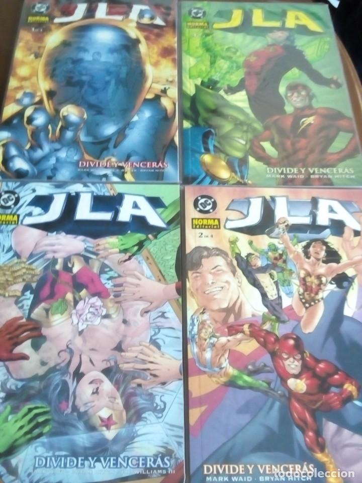 J L A DIVIDE Y VENCERAS COMPLETA COMO NUEVOS L2P4 (Tebeos y Comics - Norma - Otros)