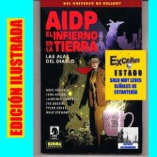 Cómics: AIDP - EL INFIERNO DE LA TIERRA - LAS ALAS DEL DIABLO - DEL UNIVERSO DE HELLBOY - MIKE MIGNOLA NORMA. Lote 65018507