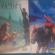 Cómics: GLORIA VICTIS TOMOS 1 Y 2 - NORMA EDITORIAL - JUAN FERNÁNDEZ Y MATEO GUERRERO. Lote 65677890