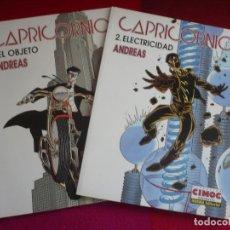 Cómics: CAPRICORNIO TOMOS 1 Y 2 EL OBJETO + ELECTRICIDAD ( ANDREAS ) ¡MUY BUEN ESTADO! NORMA CIMOC 1998. Lote 73854335