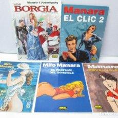 Cómics: MILO MANARA. 5 COMICS. EDITORIAL NORMA. VER FOTOGRAFIAS ADJUNTAS.. Lote 76041035
