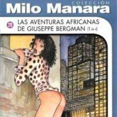 Cómics: LOTE 4 COMIC COLECCION MILO MANARA AVENTURAS AFRICANAS DE GIUSEPPE BERGMAN NUEVO PRECINTADO EROTICO. Lote 76315611