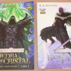 Fumetti: REINOS OLVIDADOS - EL VALLE DEL VIENTO HELADO 1 LA PIEDRA DE CRISTAL 2 RÍOS DE PLATA - NORMA ED. Lote 76940757