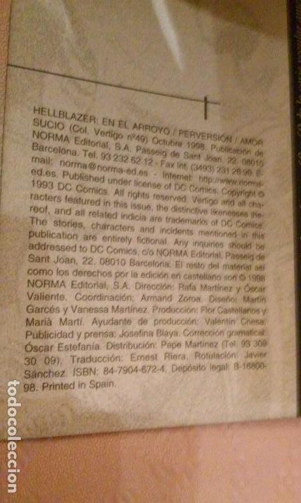 Cómics: JOHN CONSTANTINE HELLBLAZER COMICS NÚMEROS 49 Y 60 (NORMA-VERTIGO) - Foto 3 - 81132652