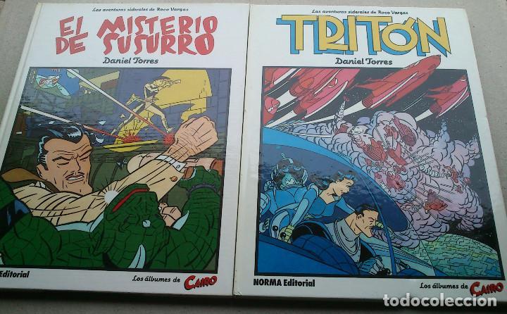 LOTE DANIEL TORRES - TRITÓN + EL MISTERIO DE SUSURRO - 1ª EDICIÓN 1984 1985 - CAIRO - NORMA - NUEVOS (Tebeos y Comics - Norma - Cairo)