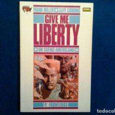 Cómics: COMIC ( GIVE ME LIBERTY-UN SUEÑO AMERICANO-FRANK MILLER Y DAVE GIBBONS-4 FRONTERAS. Lote 87067368