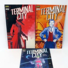Cómics: TERMINAL CITY 1 2 Y 3. COMPLETA (DEAN MOTTER / MICHAEL LARK) NORMA, 1999. OFRT ANTES 18E. Lote 267429904