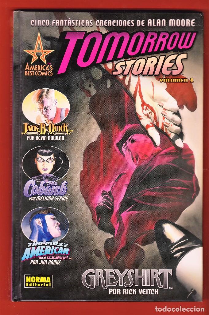 ALAN MOORE. TOMORROW STORIES .VOLUMEN 1. TAPA DURA. IMPECABLE (Tebeos y Comics - Norma - Comic USA)
